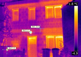 IR Aufnahme mit Wärmebildkamera, Bichlerbau Döbeln